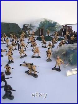 1963 Marx Miniature SANDS OF IWO JIMA Largest Play Set. All Original Contents