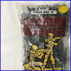 1963 Marx Ww2 Playset German Soldiers. 50 Medium Slate Gray. Factory Sealed Bag