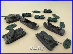 1963Marx Miniature SANDS OF IWO JIMA Playset Tanks, Jeeps, Landing Craft. Excellent