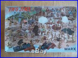 1964 MARX Iwo Jima Playset #4147 99.5% complete in C-8 Box withDividers