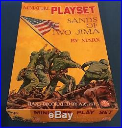 1964 MARX SANDS OF IWO JIMAPlayset. Largest Miniature VersionOver 300 Pieces