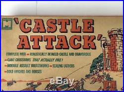 1964 MPC Marx CASTLE ATTACK Playset. Factory Sealed Content Bags. Mint In Box