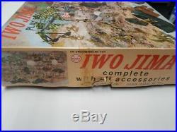 1964 Marx 4147 Iwo Jima Battleground Playset 100% Nice Box Must See Xmas Gift