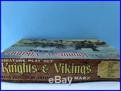 1964 Marx KNIGHTS & VIKINGS Miniature Play Set. Original, Mint Contents