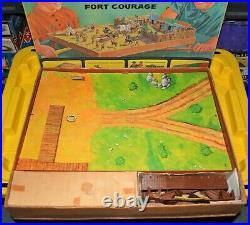 1966 F-Troop Fort Courage Magnetic playset Multiple Toymakers vintage TV MARX