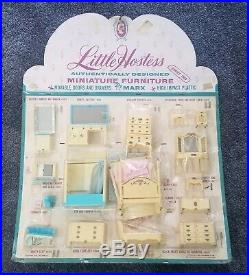 1966 Louis Marx Little Hostess STORE DISPLAY bedroom bathroom 22x26 series 2