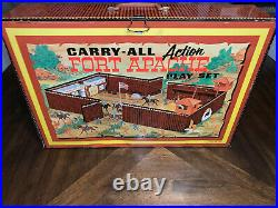 1968 MARX CARRY-ALL ACTION FORT APACHE PLAY SET, #4685 TONS of Extra Men and Acc