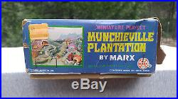 1968 Marx Munchieville Plantation Miniature Playset Never Opened Org Parts Bags