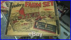 1968 MARX Platform Farm Set. Complete