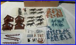 1968 Marx Fort Apache Carry All Playset Near Mint in Original Box UNUSED