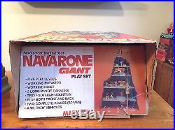 1970s MARX WWII NAVARONE GIANT PLAY SET With ORIGINAL BOX VGC