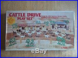 1972 MARX Cattle Drive Playset #3983 100% complete in C-9 Box with Instructions