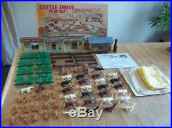 1972 MARX Cattle Drive Playset #3983 100% complete in C-9 Box withInstructions