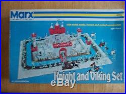 1973 MARX Knight and Viking Playset #4733 100% complete in C-8.5 Box with Inst