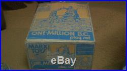 1974 Marx Prehistoric Mountain One Million BC Dinosaur Caveman PlaySet Withbox