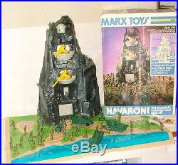 % 1975 Marx Toys Navarone The Mountain Battle Ground Play Set In Original Box