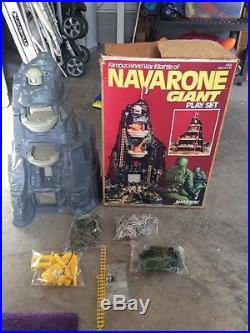 1977 MARX'S NAVARONE GIANT PLAY SET FAMOUS WORLD WAR II BATTLE NR