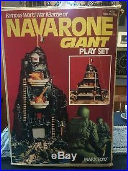 1977 Marx Navarone Mountain WW ll Giant Play Set with Box Original Owner