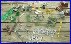 1977 Marx Navarone Mountain wwii Base play set with box for parts or repair