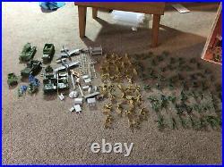 1979 Marx Iwo Jima Giant Playset Lots Of Parts + Mountain + Box Rare