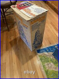 1980 Marx Famous World War ll Battle of Navarone Battle Giant Playset In Box