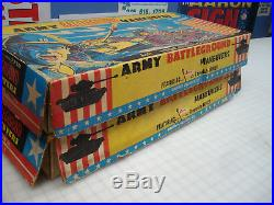 2 T. Cohn Marx Battleground Maneuvers Playsets Full! Wow! Huge Lot