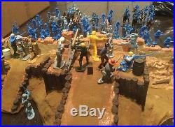 Alamo wall battle scene. Marx, Cts, plus more