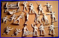 BLUE & GRAY SEARS MARX Civil War Play Set 93 PC W Nice Box All 1960's Originals