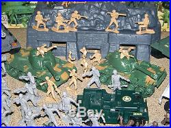 Battle Ground Action Play Set Plus Extras Marx Toys 1990's