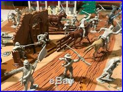 Battle Of The Blue And Gray 1963 Marx Playset Box # 4744 Confederate Civil War