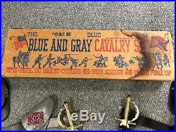 Blue & Gray Civil War Cavalry Set, 1960's, with RARE Marx original box