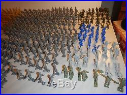 Boys Vtg 60's Marx Battleground, Army Combat, D-Day play sets w additional items