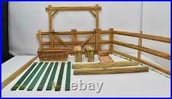 Circle X Ranch w Mailer Box Johnny West Marx Vintage Cardboard Playset 1966