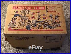 Deluxe Premium Marx Us Marine Mobile Unit Boxed C. 1960's Atomic Cannon