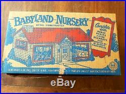 Early LOUIS MARX Vintage Babyland Nursery Metal Playset Complete NM P-678 RARE