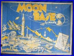 Estate Vintage Marx Operation Moon Base Playset Rare Lunar Moon Alien Rocket Box