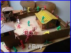 Fort Apache Vintage Marx Playset 1950s Cowboys Indians Cabin FORT some Tim Mee