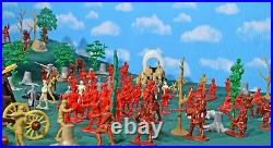 French and Indian War'Forest Ambush' Playset #2 54mm Plastic Toy Soldiers