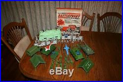 Grant's MPC Army Battlefront Playset with Tanks & German Pillbox Marx Timmee