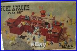 HTF 1964 Boxed 1st Version Marx Ft. Apache #3681 with Lift-off Lid-99.9% Complete