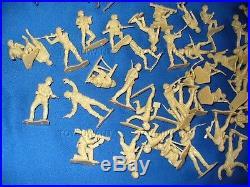 Huge Lot Vintage Marx Battleground Desert Fox Wwii Playset Toy Beachhead Europe