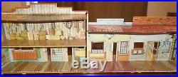 Huge Lot Marx Granite Silver City Western Town Play Set Cowboy Indian Tin Ranch