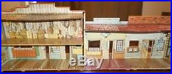 Huge Lot Marx Silver City Western Town Play Set Cowboy Indian Tin Ranch