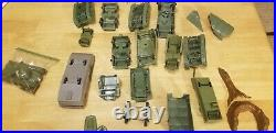 IWO JIMA GIANT PLAY SET BY MARX w BOX INSTRUCTIONS Missing parts & extra Parts