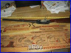 Ideal Vintage Mattel Playset 1960 Winchester Toy Rifle Saddle Gun #554