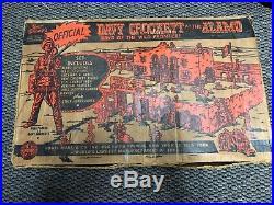 In Original Box Marx Walt Disneys Davy Crockett At The Alamo Play Set Box#3544