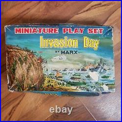 Invasion Day 1960s Marx Miniature Play set in Original Box Vintage