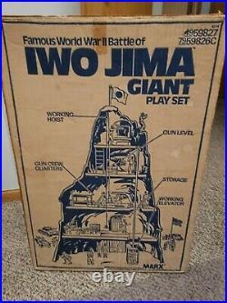 Iwo Jima Giant Play Set By Marx With Original Box