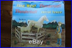 Jane West Thundercolt Thunderbolt and Corral Fence By Marx Playset 1966 with Box