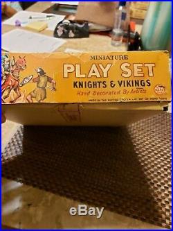 Knights & Vikings By Marx miniature play set